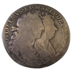 William And Mary Half Crown 1689.
