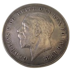 George V Of England Silver Crown 1935.