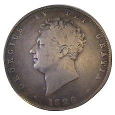 George IV Of England Half Crown 1826.
