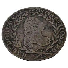 Silver Francis I Twenty Kreuzer Austria 1764.