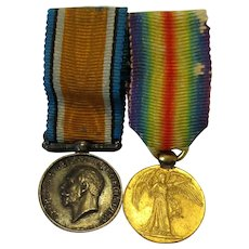 Pair of WW1 British Miniature Medals