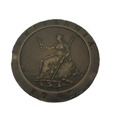 George III Cartwheel 2d Coin Second Issue Soho Mint c 1797.