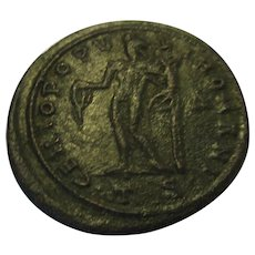 Roman Maximian Bronze Follis Coin Thessalonica Mint AD286-308.