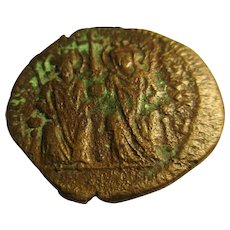 Bronze Follis Coin Byzantine Empire Justin II 565-578 A.D.