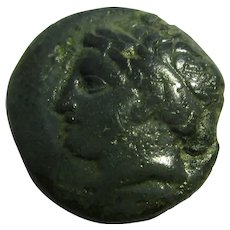 Macedonian Bronze AE17 Coin Philip II Antique 359-336 BC.