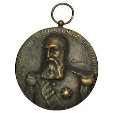 Belgium Bronze Medal For Cattle Breeding Antique Brussels 1906.