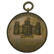 Irish Inniskilling Medallion Vintage 1928.
