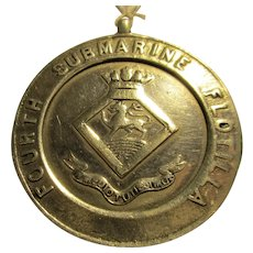 Sterling Silver Royal Navy Medal 100 Yds Run Vintage Birmingham 1935.