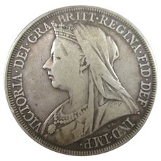 Sterling Silver Queen Victoria Crown 1894.
