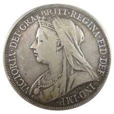 Sterling Silver Queen Victoria Crown 1894.
