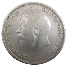 Sterling Silver King George V 1/2 Crown 1914.