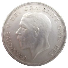 King George V half Crown 1936.