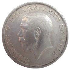 King George V Sterling Silver Half Crown 1916.