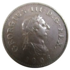 King George III Farthing 4th Issue 1806.