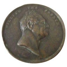 William IV Medallion Opening of London Bridge Shilling Coin Antique 1831