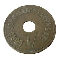 Circus Entry Fee Token Antique Late Victorian