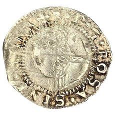 Elizabeth I Of England Penny Antique Elizabethan 1558-1603