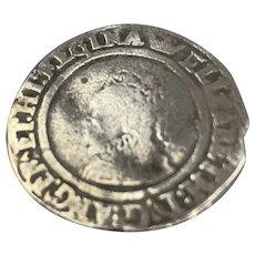 Elizabeth I Of England Six Pence Coin Antique Elizabethan 1558-1603