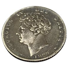 Six Pence George IV Coin Antique Georgian 1829