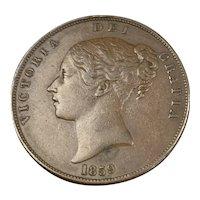 Bronze Penny Coin Victoria 1859 Antique Victorian 1859
