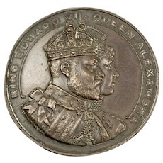 King Edward VII Commemorative Bronze Coin Vintage 1907