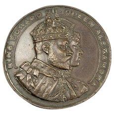 King Edward VII Commemorative Bronze Coin Vintage 1907