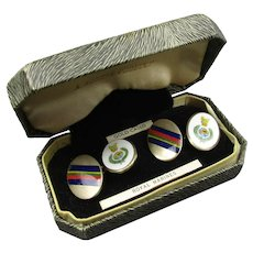 Boxed Pair of Royal Marines Cufflinks Vintage c1960