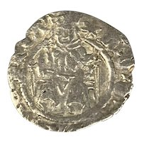English Silver Coin Sovereign Penny Durham Henry VIII Antique 1509-1523