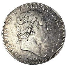 King George III Crown Coin Georgian Antique c1820