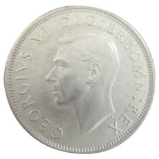 King George VI Half Crown 1939.