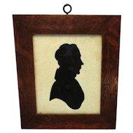 Oak Framed Silhouette Miniature Portrait Antique C1800