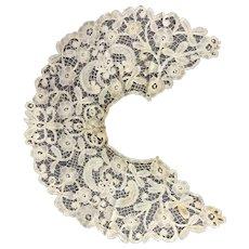 Honiton Lace Collar Antique Victorian c1880