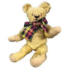 Mohair Articulated Soft Toy Teddy Bear Vintage c1930