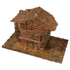 Carved Wooden Black Forest Swiss Chalet Antique c1890