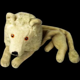 Child's Teddy Bear Lion Bed Clothes Case Vintage c1960
