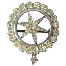 Silver & Paste Star Pendant Antique c1890