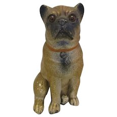 Terracotta Dog figurine Vintage 20th Century.
