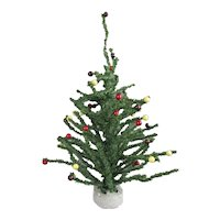 Small Artificial Christmas Tree Vintage c1940