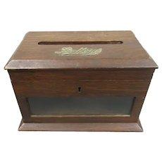 Country House Oak Letter Box Antique Victorian c1900