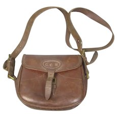 Leather Cartridge Shooting Hunting Bag Vintage c1920