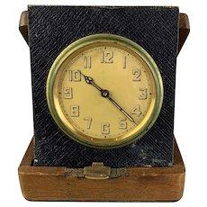 Walnut Wooden Clock Case With Clock Inside Antique Art Deco Period c1920