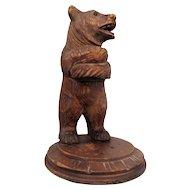 Black Forest Carved Wood Bear Vintage c.1930