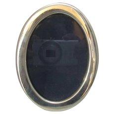 Sterling Silver Oval Photograph Frame Hallmarked Vintage 1984 English.