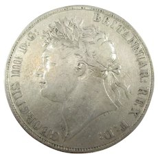 George IV King Of Great Britain Ireland And Hanover Crown 1822.