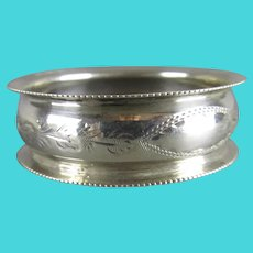Sterling Silver Napkin Ring Antique Birmingham 1909