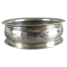 Sterling Silver Napkin Ring Antique Birmingham 1909