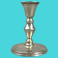 Silver Plated Candle Stick Vintage 20th Century