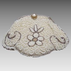 Vintage Art Deco Beaded Evening Bag Hand Made in Belgium c.1920