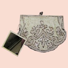 Vintage Art Deco Beaded Evening Bag Hand Made in France c.1920