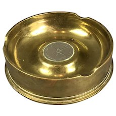 Brass Trench Art Ashtray Vintage c1956